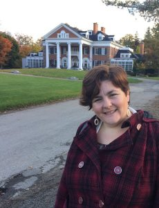 Corina Harris happily visiting Langdon Hall in October 2016