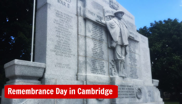 Remembrance Day Ceremonies in Cambridge Ontario