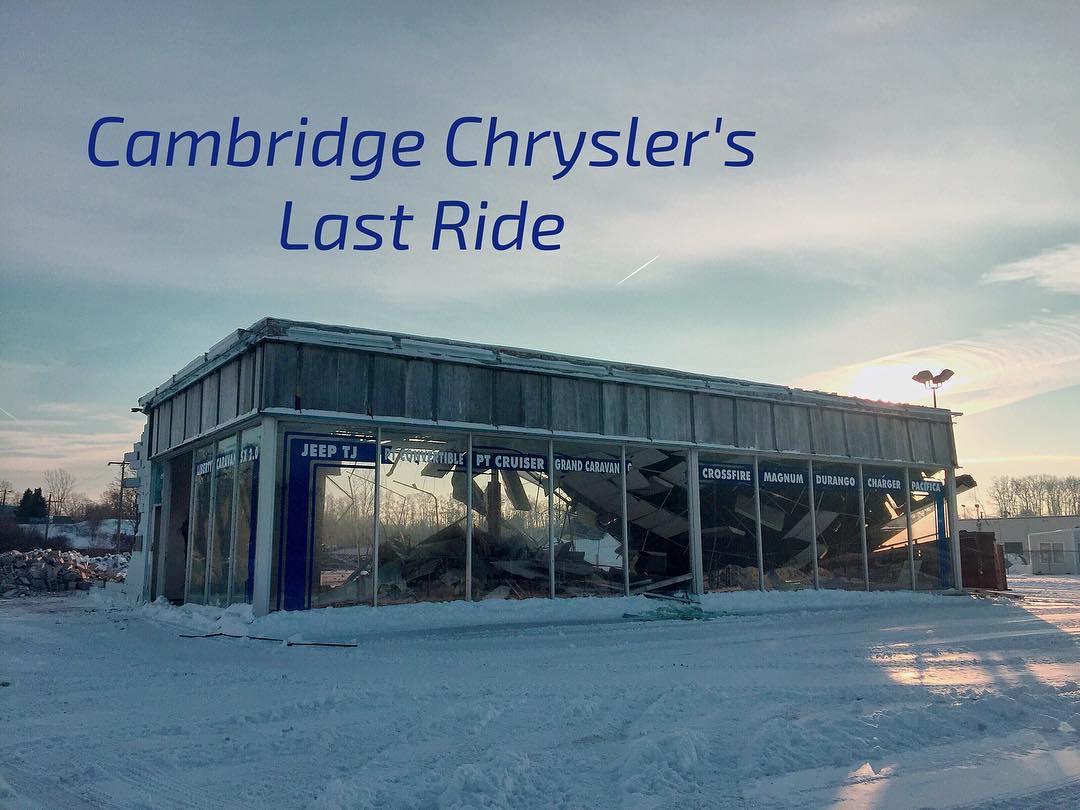 Cambridge Chrysler Being Demolished Today Mycbridge