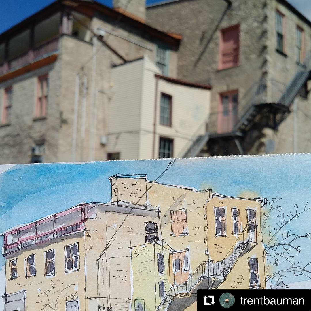@trentbauman with @repostapp ??? The rear of Grand Cafe in Galt