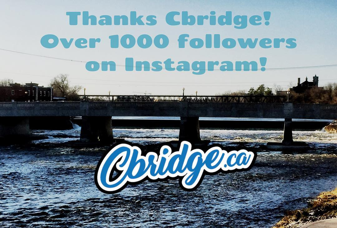 Cracked 1000 followers on Instagram today! Thanks for all the support Cambridge