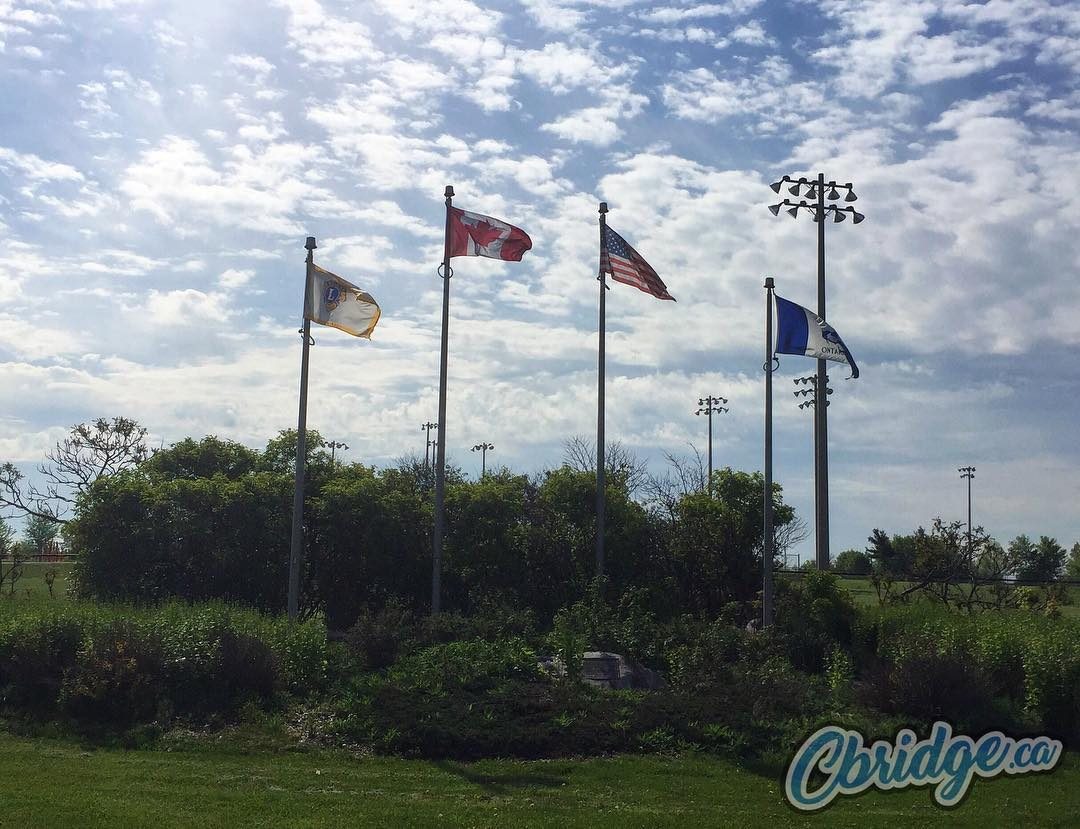 Flags flying at Lions Can-Amera Park