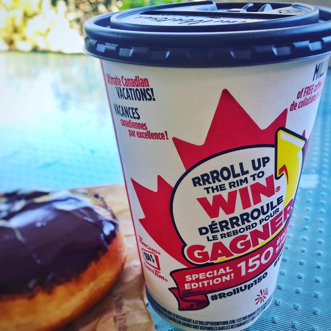 You know #cbridge is serious about coffee when we have a @timhortons in our hospital. #rolluptherim is back, but you probably already knew that. #becausecoffee #mycbridge #canada150