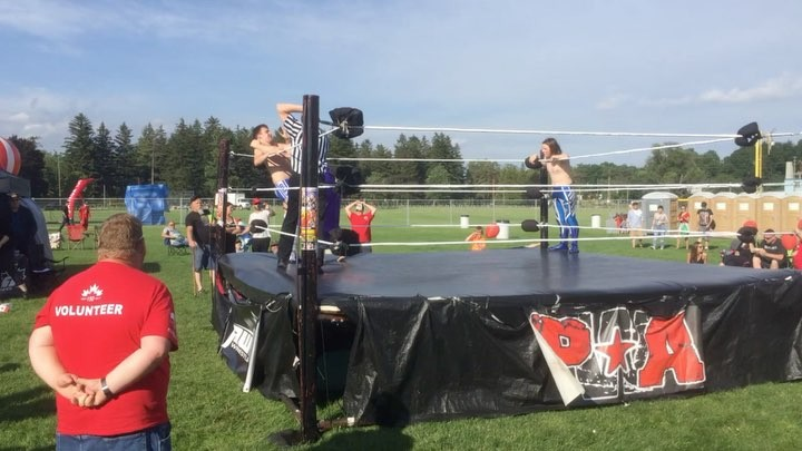 Some amazingly terrible wrestling for Canada Day #cbridge