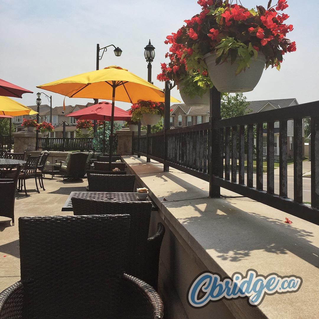 Dreaming of a patio like the one at @symposiumcafe_restaurantlounge? Visit our blog to see our picks for the best patios in #cbridge https://cbridge.ca/best-patios-in-cambridge-ontario/