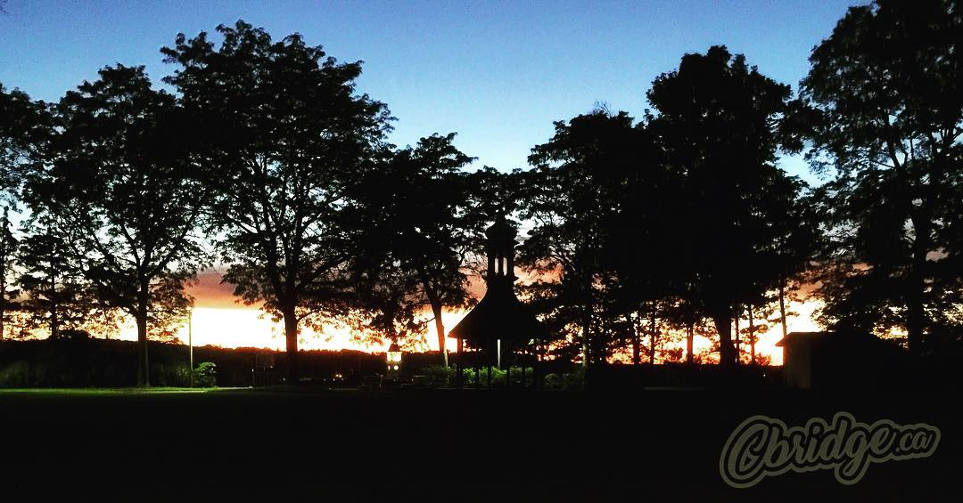 Centennial Park at dusk #mycbridge #cbridge