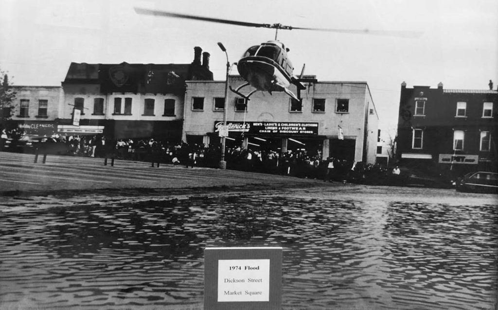 Helicopter flood of 1974 in Cambridge