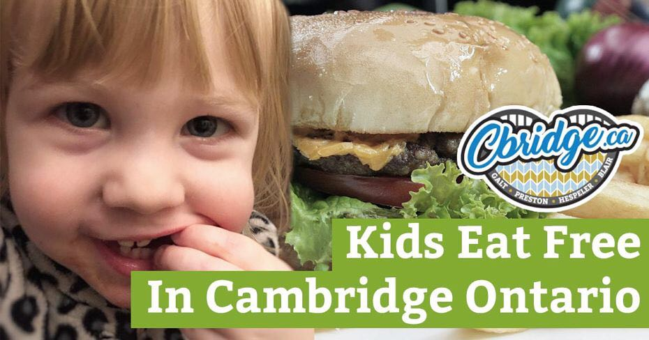 Looking to get out to eat with the kids? Check out the latest post on the blog for where kids can eat free or cheap nearly every day of the week in #cbridge! https://cbridge.ca/kids-eat-free-or-cheap-in-cambridge-ontario/
