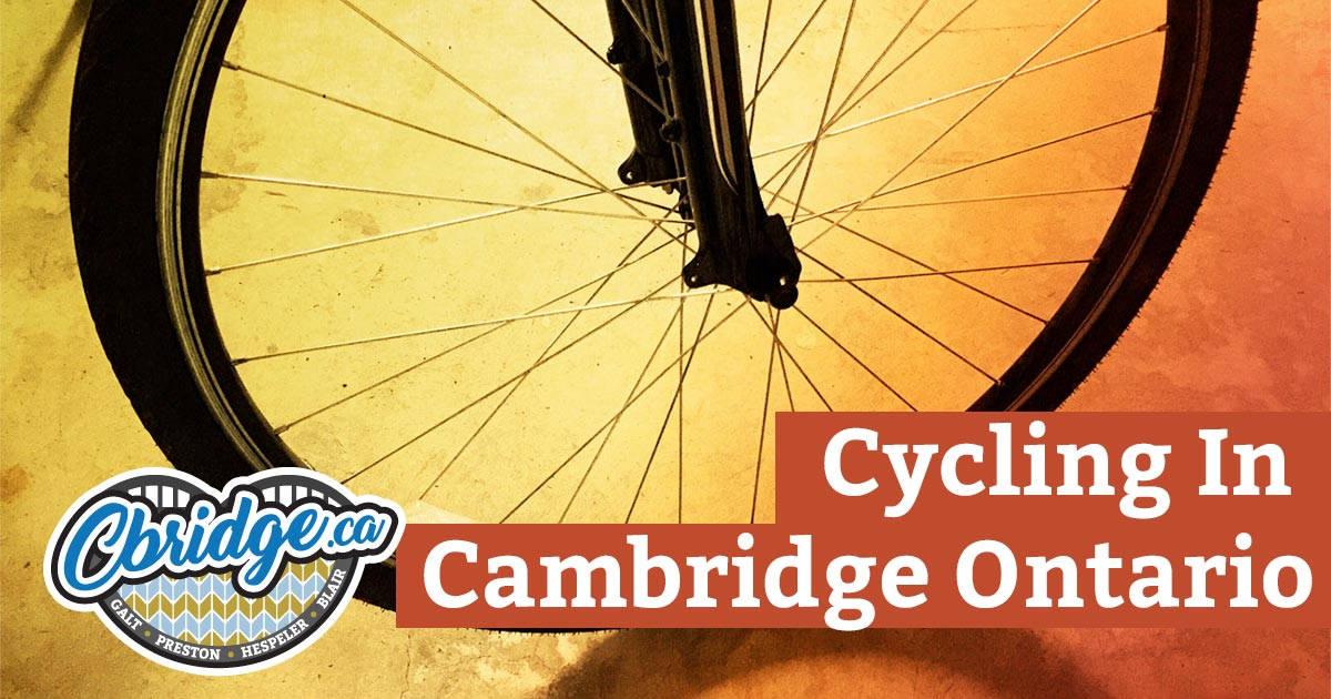 Cycling in Cambridge Ontario