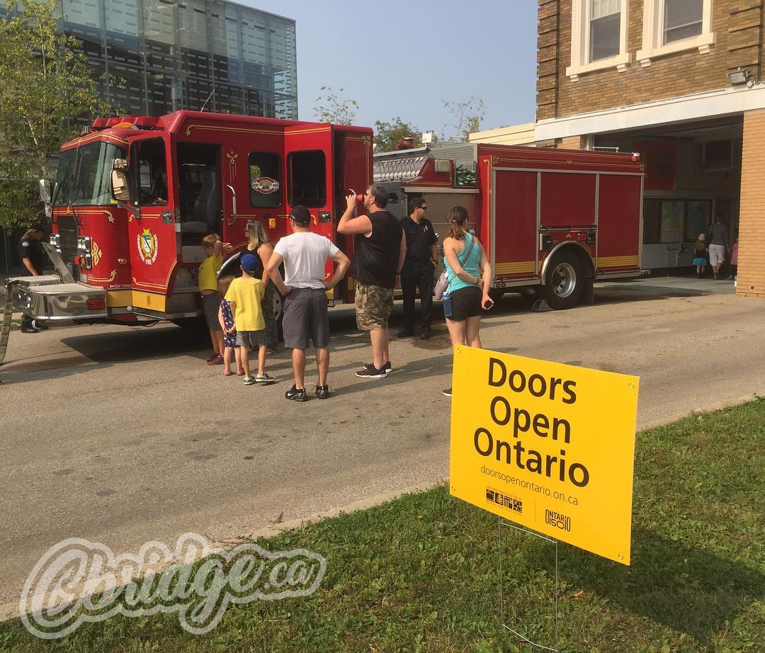 The Hespeler Fire Hall has opened their doors for @doorsopenwr. Stop in and say hello! #cbridge #dowr2017