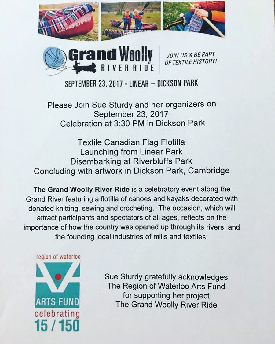 ?Today's the day! Launching at 9:30 – The Grand Woolly River Ride! #cbridge #bethereorbesquare ?