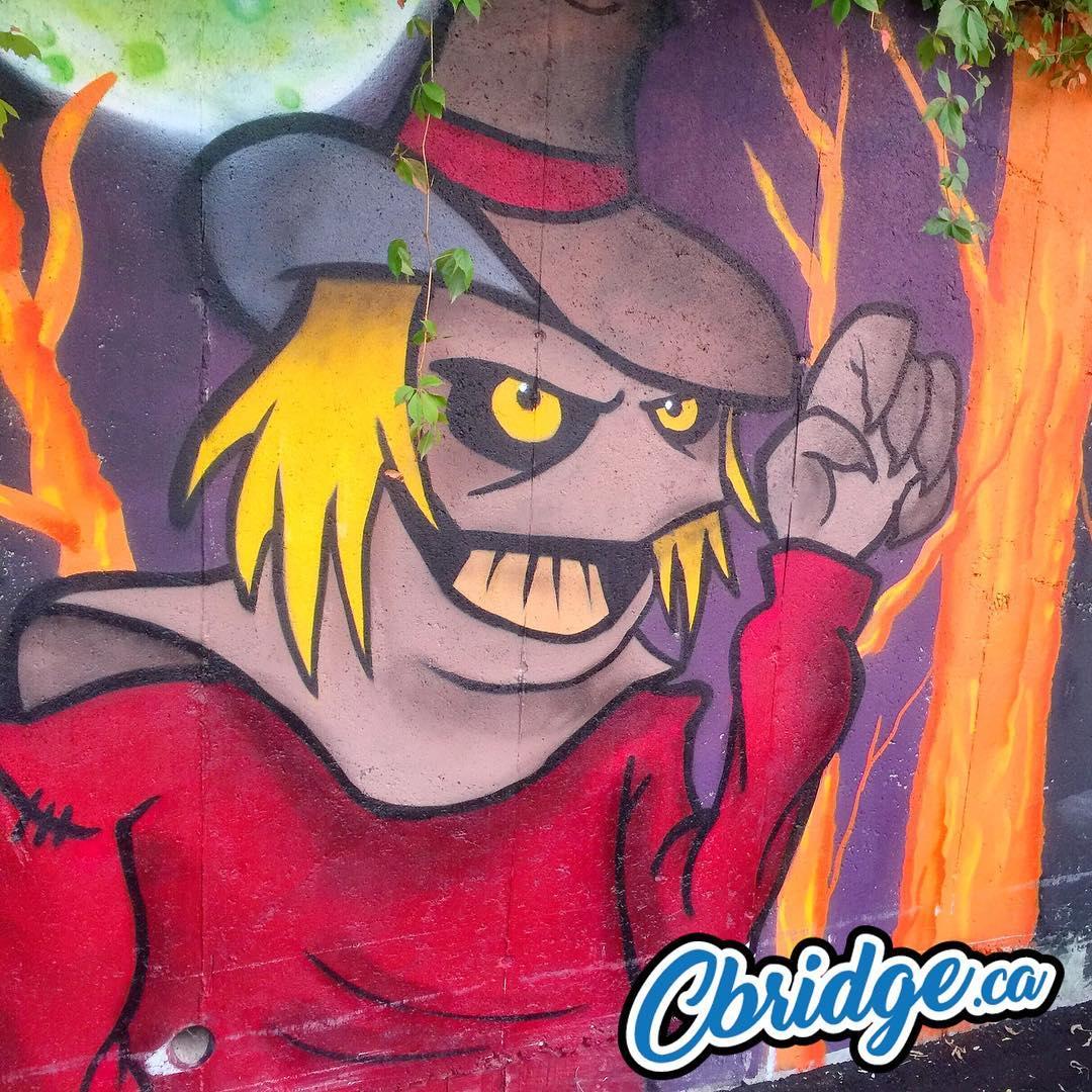Hespeler Halloween mural ? #cbridge #mycbridge
