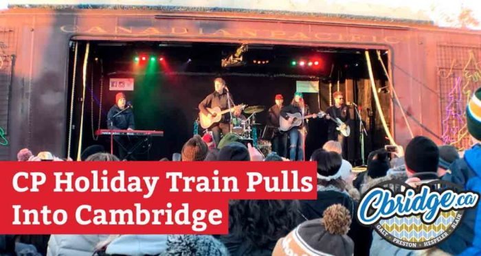 CP Holiday Train Pulls Into Cambridge