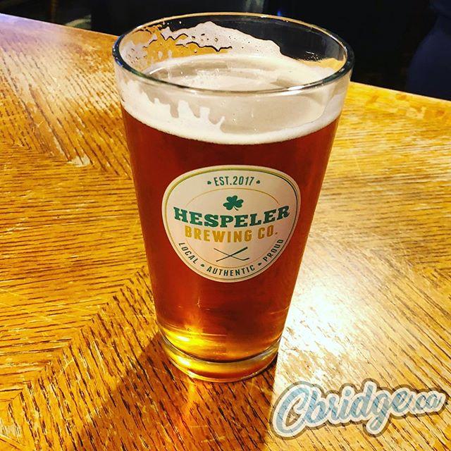 Got to try out a pint of @hespelerbrewing IPA yesterday ?? #cbridge #hespeler #watreg