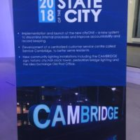 Updates From the Office of the Chief Financial Officer during the City of Cambridge Mayor's 2018 State of the City Address