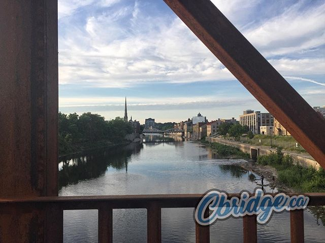 The view keeps pulling you back ~ Cambridge's new pedestrian bridge #cbridge #mycbridge