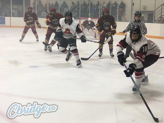 Nice to have some Jr B action back in #cbridge! Welcome to town @redhawks_jrb!