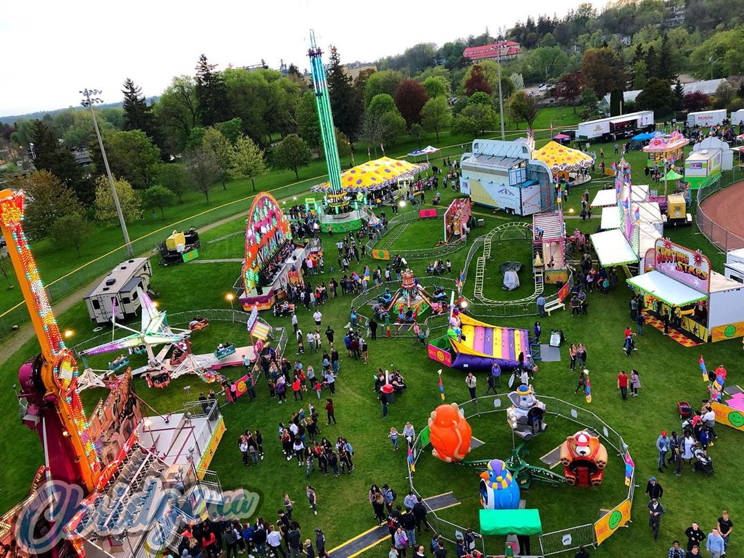 View from the ferris wheel at Kin Carnival in Riverside this weekend #cbridge