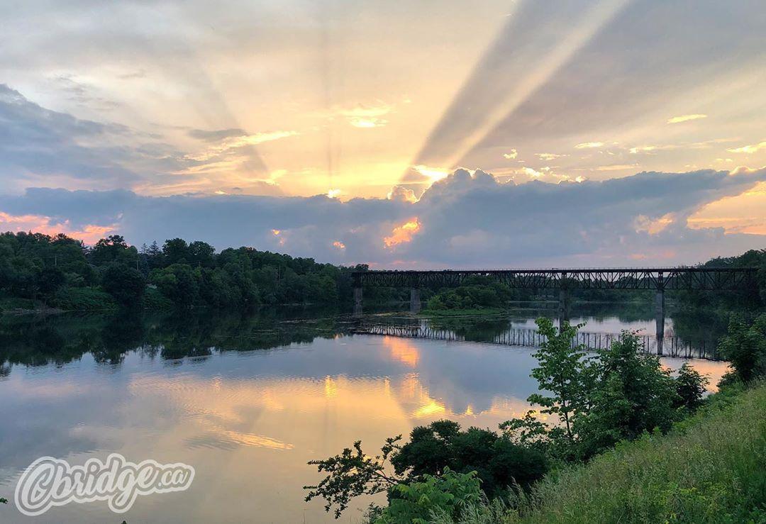 Pretty cool sunset yesterday #cbridge #watreg #galtlove